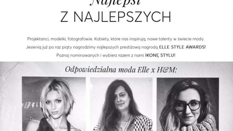 Nominacja ELLE Style Award 2018